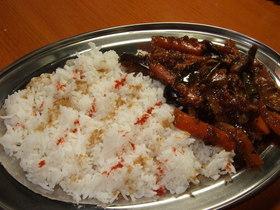 茄子と人参のサブジ(炒め煮)