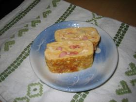 塩辛とチーズの卵焼き