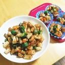 キハダマグロ の 長芋・オクラ焼き