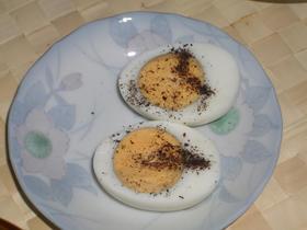 ★ゆで卵をゆかりでどうぞ☆