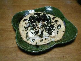 長芋と豆腐の蒸し焼き