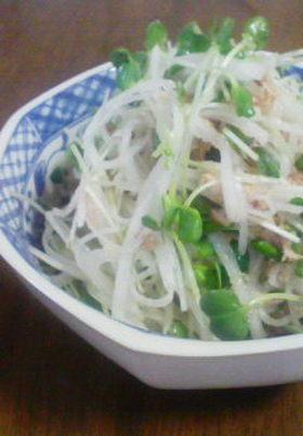 W大根とシーチキンの簡単サラダ