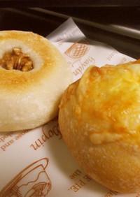 フランスあんパンとチーズフランスパン♡