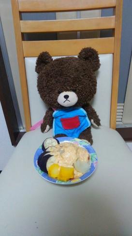 レンジで温野菜とソース