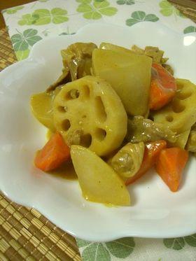 根菜のエスニック煮♬