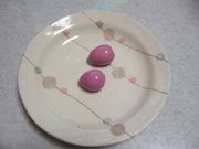 かわいい!ピンクのゆで卵♪の写真