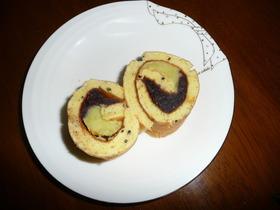 2色餡ロールケーキ