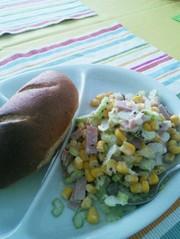 ★野菜の副菜★セロリとコーンのサラダの写真