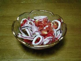 イカとトマトのサラダ