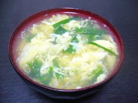 ニラと卵の中華スープ◎