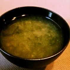◆簡単美味♡磯香るあおさのお味噌汁◆