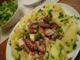 イタリアの定番、タコとポテトのサラダ