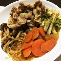 麺つゆで簡単豚すき焼き!