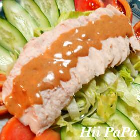 中華風鶏ハムの棒棒鶏サラダ