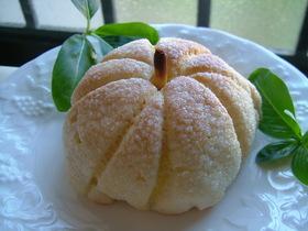 かぼちゃで メロンパン