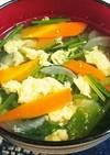ほうれん草とにんじんの和風スープ