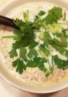 おから入りそぼろで、台湾風豆乳スープ
