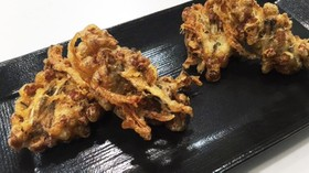 納豆と舞茸の天ぷら