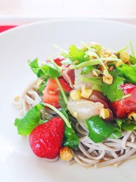【ダイエットレシピ】イタリアンサラダ蕎麦