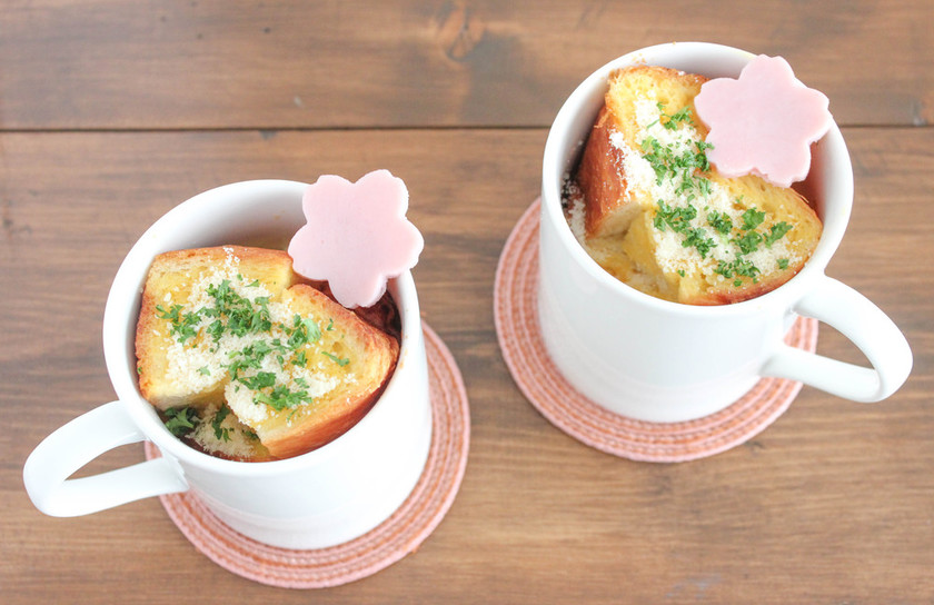 レンジで簡単☆マグカップフレンチトースト