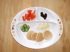 幼児食 黒ゴマきなこパンケーキ