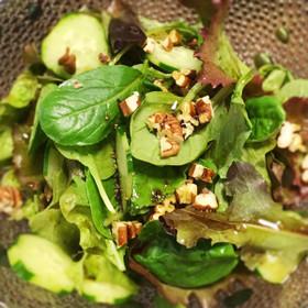 パンプキンシードオイルのグリーンサラダ
