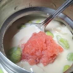 スープジャーde冷やし明太豆乳雑炊