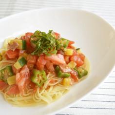 夏野菜と江戸甘味噌の冷製カッペリーニ