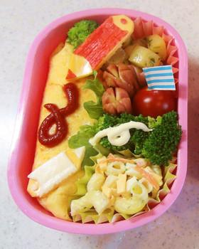 幼稚園 お弁当 オムライス 色鉛筆