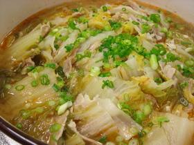 簡単★白菜と豚バラのピリ辛煮