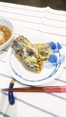なすの味食感を楽しむ天ぷら