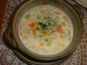 簡単!白菜とホタテのクリームスープ