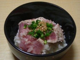 塩・胡椒で食べるまぐろ丼★なんかサッパリ