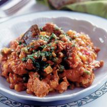 コーンと鶏肉のトマト煮