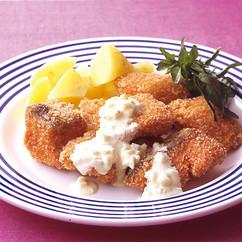 生鮭のフライにんにくマヨソース