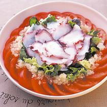 トマトとたこのさっぱりサラダ