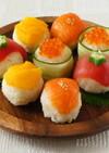 おもてなしにも!カラフル手まり寿司