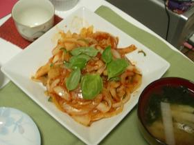 ☆豚肉と玉ねぎのケチャップ炒め★