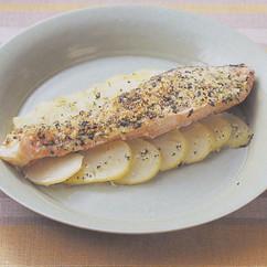 鮭のパセリパン粉焼き