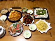 誕生日の夜ご飯(男子中学生用)の写真