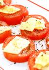 トマトチーズ乗せの簡単おつまみ