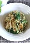 水菜と榎茸の卵とじ