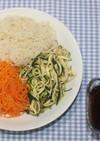 ドライベジ麺☆乾燥野菜麺で3色そうめん