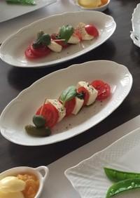 お豆腐のサラダ・カプレーゼ