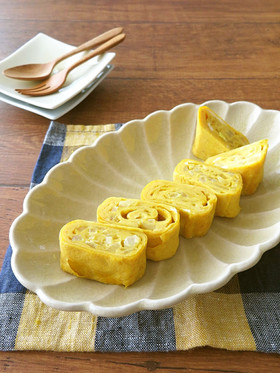 絶品卵アレンジ☆カレー風味の卵焼き