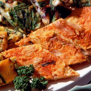 豚肉とキムチの韓国風お好み焼き