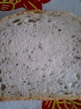 [HB使用]ホシノ天然酵母でバジル食パン