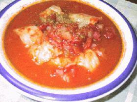 豚肉の白菜ロール・トマト味