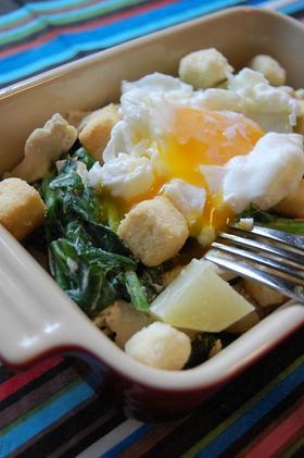 『温野菜ととろ~り卵のディッシュサラダ』