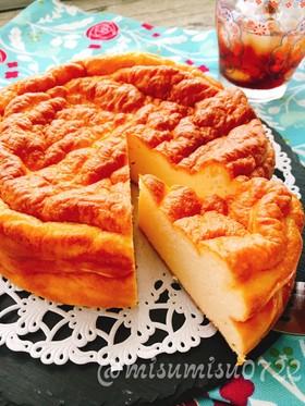 お砂糖なし!卵とクリチのチーズケーキ